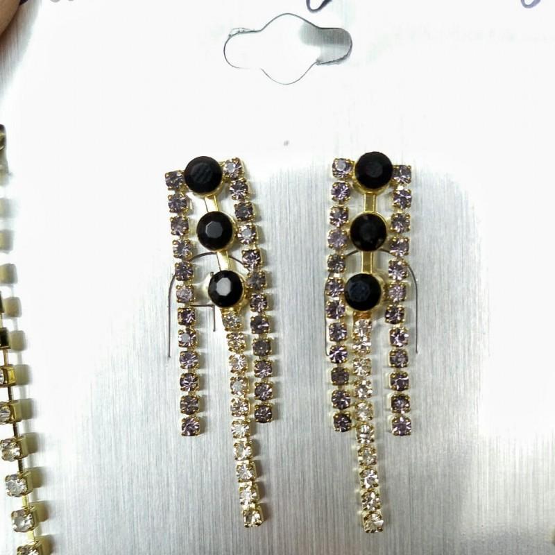 Свадебный набор. Серьги с ожерельем