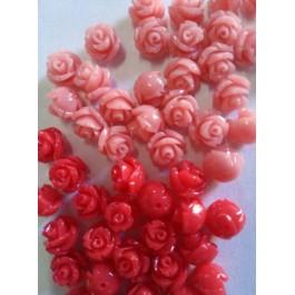 """Вставки """"Розы"""" красный, 8мм"""